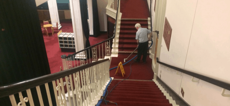 Commercial Carpet Cleaning by Aqua-Dry Carpet Cleaning in the National Concert Hall