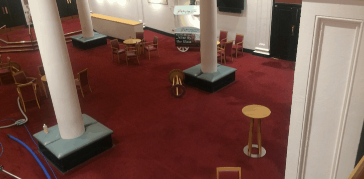 Cast Study for Commercial Carpet Cleaning Dublin - National Concert Hall downstairs room