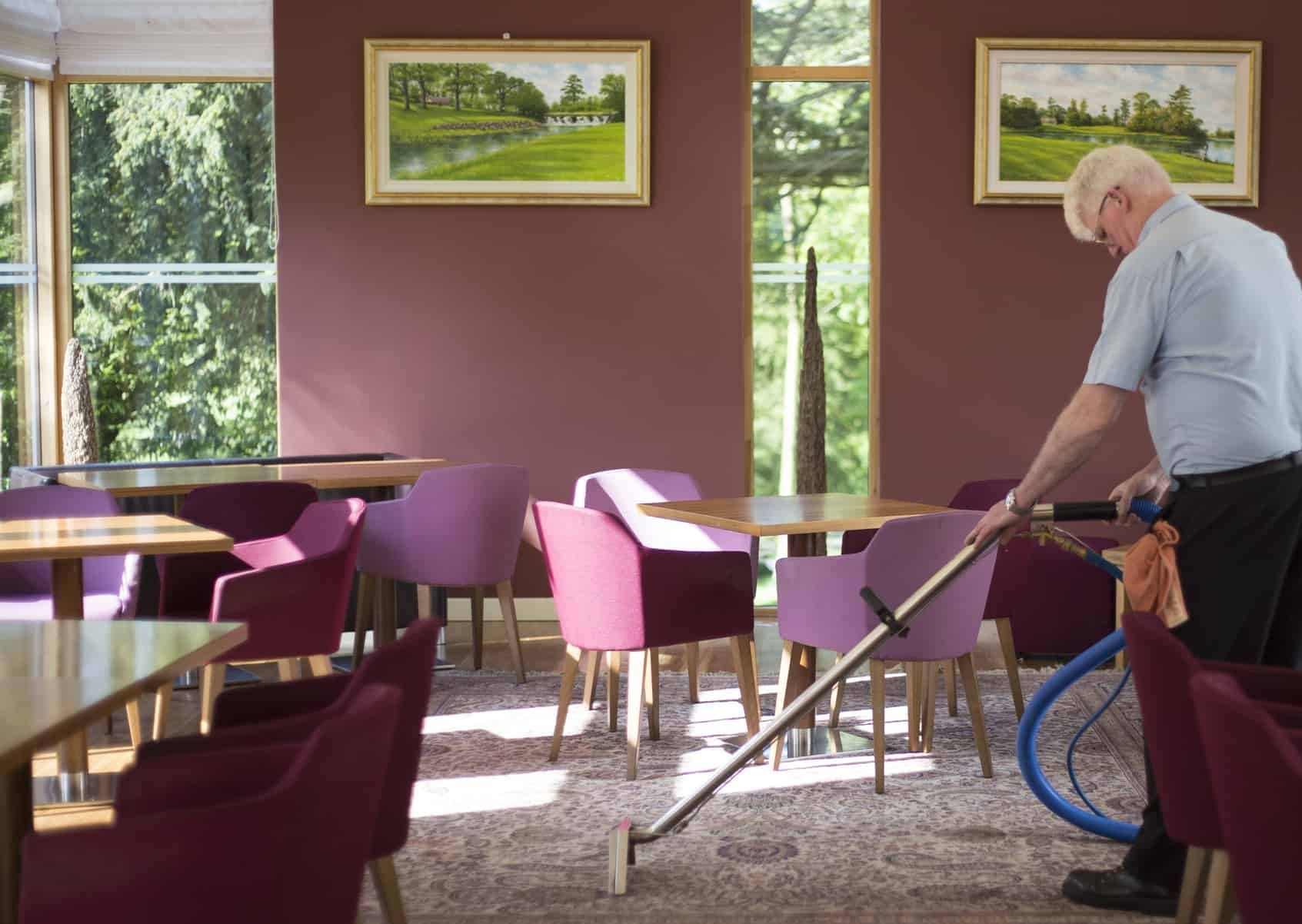 Restaurant Room of Hotel Carpet Deep Cleaning and Disinfecting