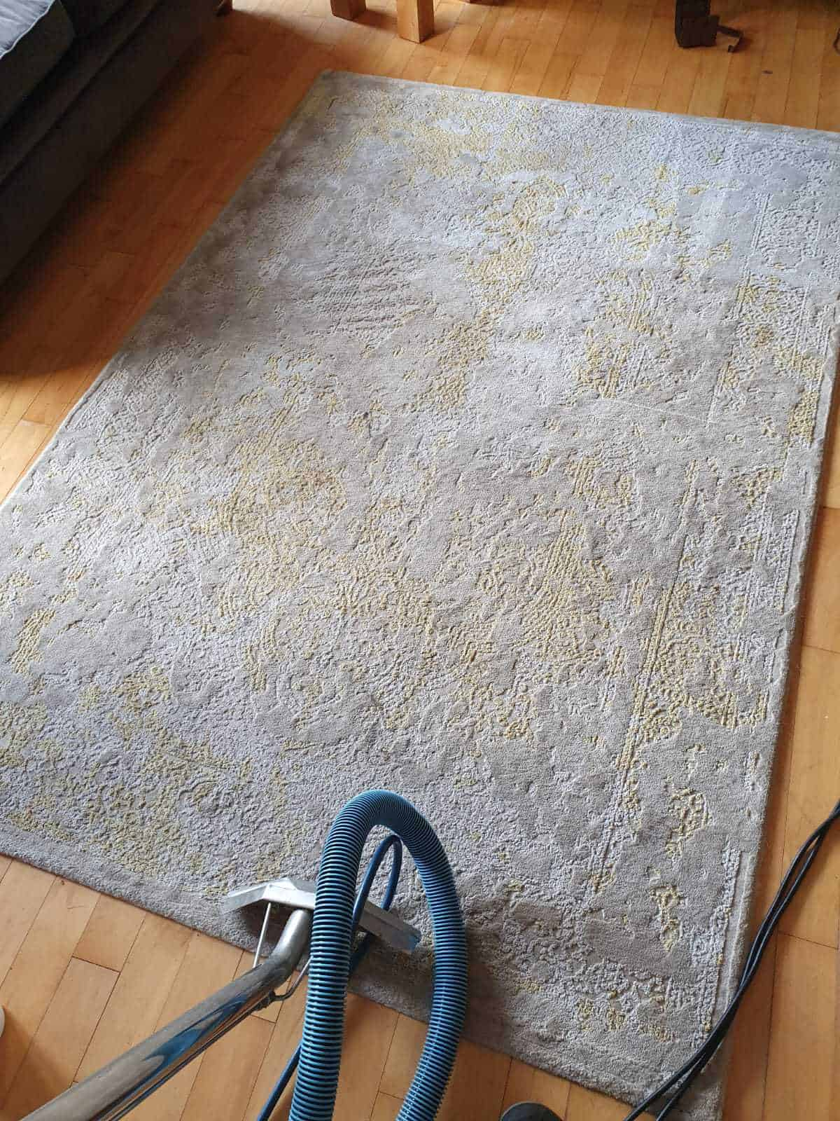 Before image of a rug cleaning job in Dublin