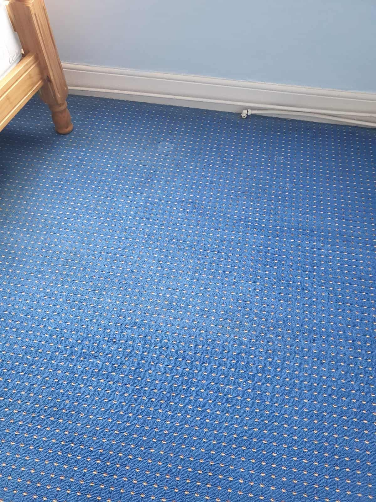 An after image of domestic carpets which have had a carpet cleaning service
