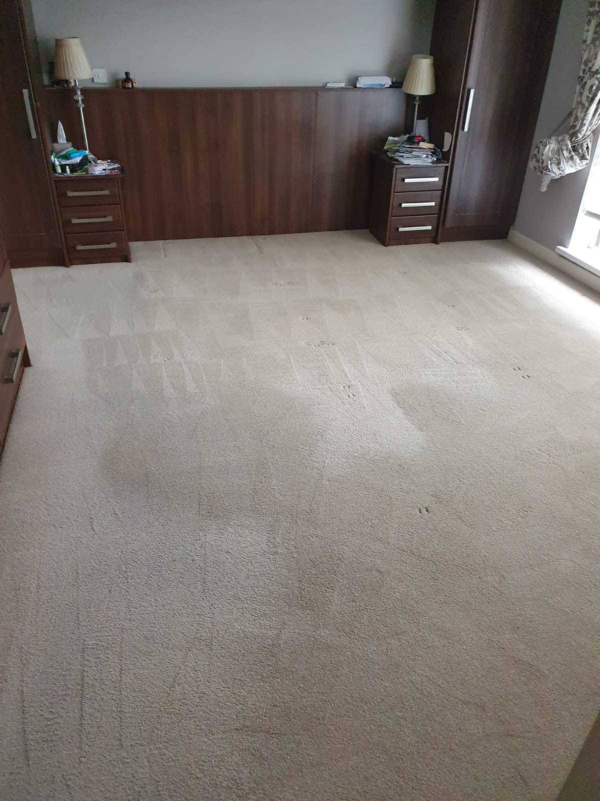 After image of a domestic carpet cleaning job