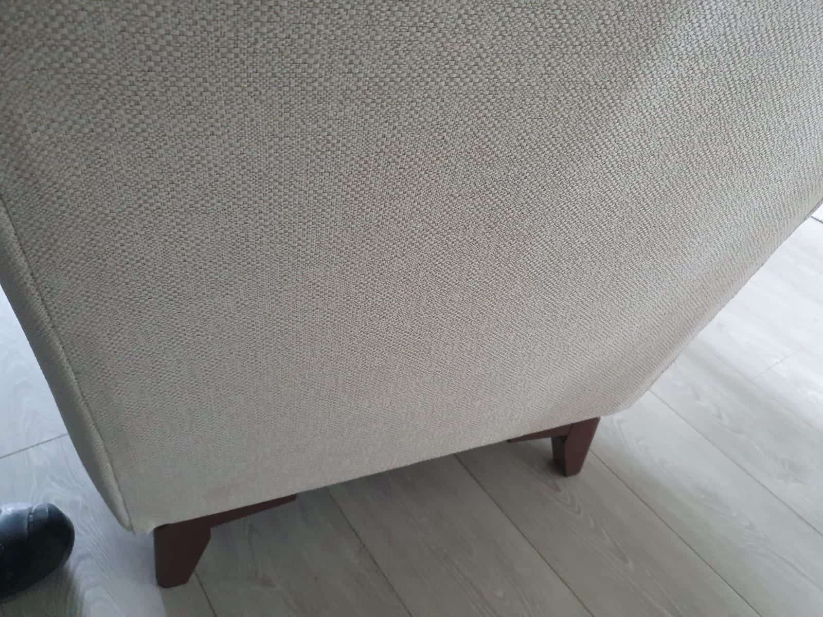 An after image of a sofa that has undergone upholstery cleaning