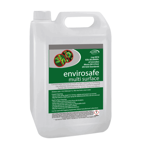 Envirosafe disinfectant treatment for sanitising carpets and upholstery